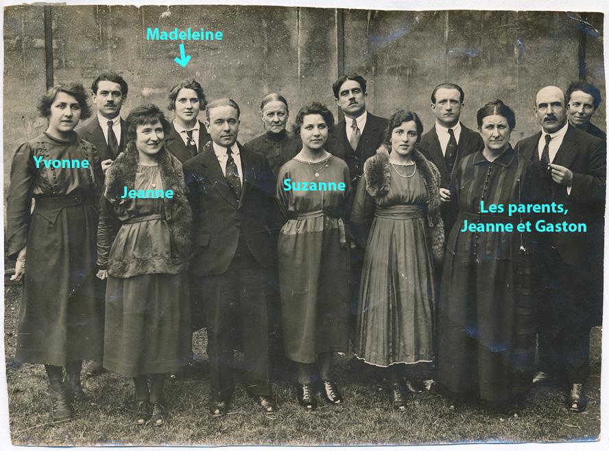 Les sœurs Philippe et leur famille